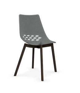 Calligaris - chaise jam w de calligaris transparente piétement  - Chaise