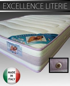 WHITE LABEL - matelas 140 * 190 cm excellence literie épaisseur  - Matelas En Mousse