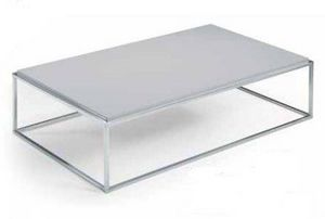 WHITE LABEL - table basse mimi rectangle gris - Table Basse Rectangulaire