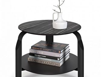 TemaHome - temahome table basse relevable scale 50*50 cm noir - Table Basse Ronde