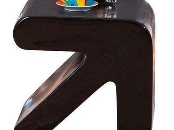 WHITE LABEL - table d'appoint design erati noire - Table D'appoint