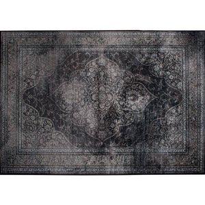 WHITE LABEL - tapis style persan rugged noir de zuiver 200 x 300 - Tapisserie De Style