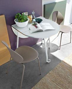 Calligaris - table pliante modulable blitz de calligaris blanch - Table Pliante