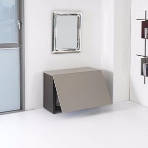 WHITE LABEL - console extensible proteo gris taupe - Console