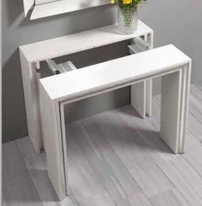 WHITE LABEL - console extensible ford design blanche - Console Extensible
