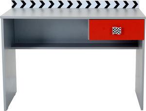 WHITE LABEL - bureau enfant design formule1 coloris gris et roug - Bureau Enfant
