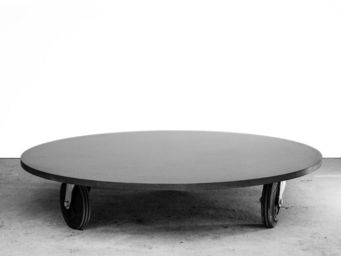 MALHERBE EDITION - table basse béton ronde - Table Basse Ronde