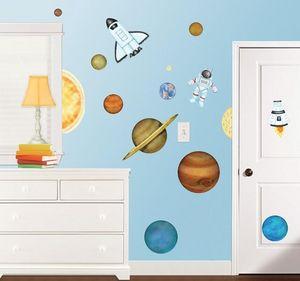 BORDERS UNLIMITED - stickers enfant dans l'espace - Sticker Décor Adhésif Enfant