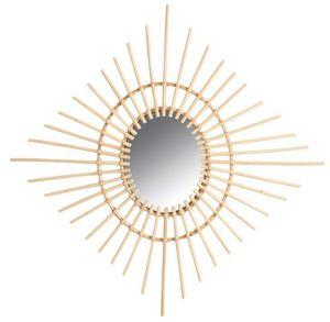Aubry-Gaspard - miroir carré en rotin - Miroir