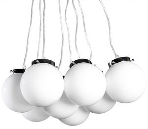 KOKOON DESIGN - lampe suspendue design avec 8 boules en verre tein - Suspension
