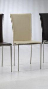 WHITE LABEL - chaise new york en simili cuir crème - Chaise