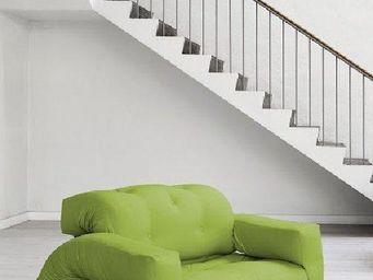 WHITE LABEL - fauteuil lit 2 places hippo futon vert lime coucha - Fauteuil