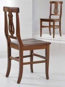 WHITE LABEL - chaise liretta design noyer foncé - Chaise