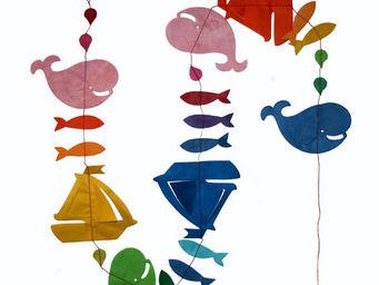 Lamali - guirlande déco colorée voyage en mer - Guirlande Enfant