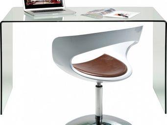 Kare Design - bureau en verre clear club office - Bureau