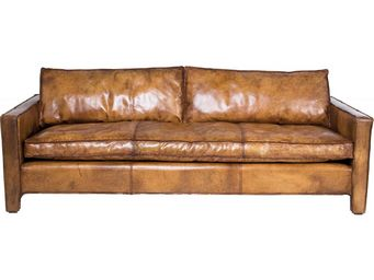 Kare Design - canapé comfy buffalo marron - Canapé 3 Places