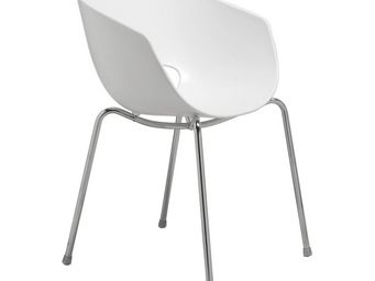 Kare Design - chaise design eggshell blanche - Chaise