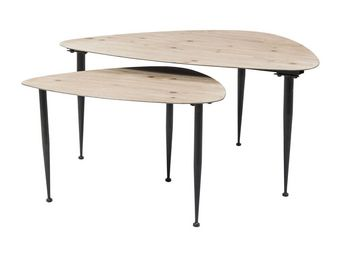 Kare Design - tables basses melange (set de 2) - Table Basse Forme Originale