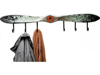 Kare Design - portemanteau mural propellor gris - Pat�re
