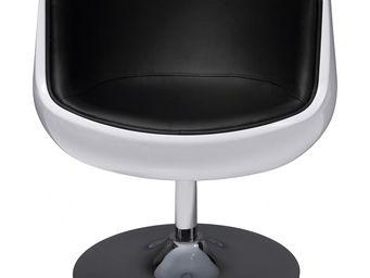 Kare Design - fauteuil coque studio 54 noir - Fauteuil Rotatif