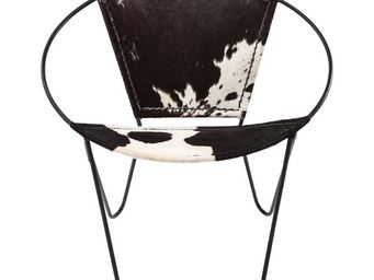 Kare Design - fauteuil rond bucket cow - Fauteuil