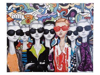 Kare Design - peinture à l huile sunglasses 70x87cm - Tableau Décoratif