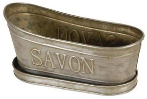Antic Line Creations - porte savon baignoire zinc - Porte Savon À Poser