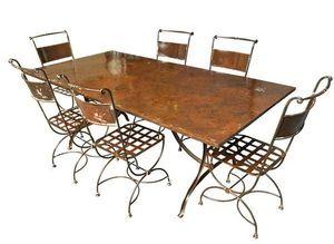 Fd Mediterranee -  - Table De Repas Rectangulaire
