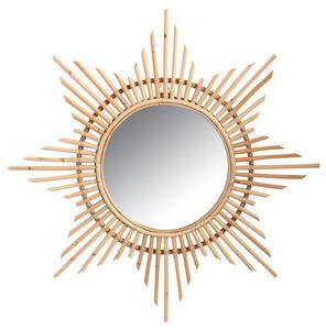 Aubry-Gaspard - miroir en rotin etoile - Miroir