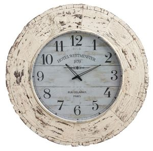 Aubry-Gaspard - horloge en bois vieilli hotel westminster - Horloge Murale