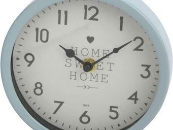 Amadeus - horloge scandi métal coloré bleu - Horloge Murale