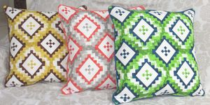 ITI  - Indian Textile Innovation - geometric - Housse De Coussin