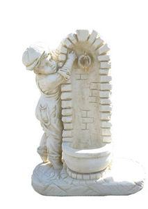 DECO GRANIT - fontaine avec enfant en pierre reconstituée 70x35x - Fontaine Murale D'extérieur