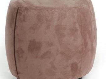 Cotton Wood - pouf tonneau suedine - Pouf