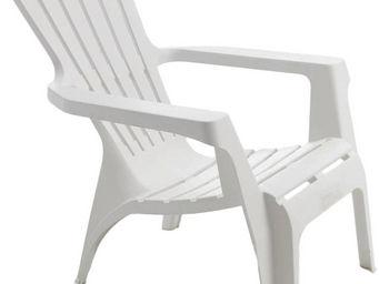 WILSA GARDEN - fauteuil adirondack en résine polypropylène blanc - Fauteuil De Jardin