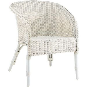 Aubry-Gaspard - fauteuil moelle de rotin blanc - Fauteuil
