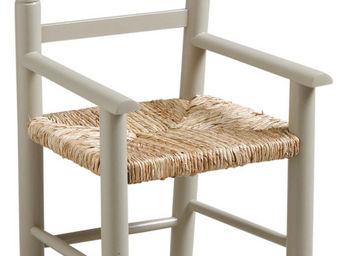 Aubry-Gaspard - fauteuil enfant en bois de hêtre gris - Fauteuil