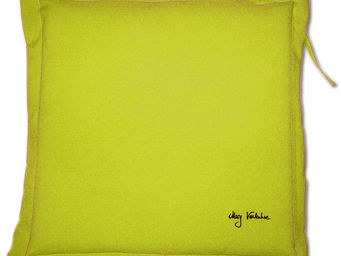PROLOISIRS - coussin extérieur galette 40cm lemon - Galette De Chaise