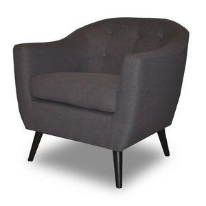 Demeure et Jardin - fauteuil crapaud gris style scandinave bjort - Fauteuil