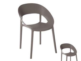 WHITE LABEL - duo de chaises gris - aloa - l 55 x l 57 x h 77 -  - Chaise