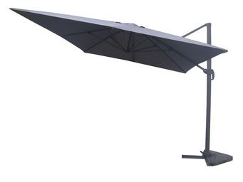 WHITE LABEL - parasol rotatif gris 3*3 m - terrine - l 300 x l 3 - Parasol Excentré