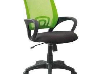 WHITE LABEL - fauteuil de bureau pistache - darwin - l 56 x l 56 - Fauteuil De Bureau