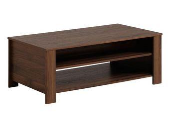 WHITE LABEL - table basse noyer - gringo - l 108 x l 58 x h 41 - - Table Basse Rectangulaire