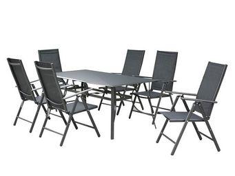 WHITE LABEL - ensemble table et chaises de jardin - sonkran n°5  - Salle À Manger De Jardin