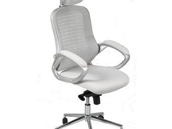 WHITE LABEL - fauteuil de bureau gris - tweet - l 66,5 x l 54 x  - Fauteuil De Bureau