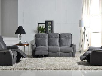 WHITE LABEL - salon complet relax électrique - scout - l 200 x l - Salon