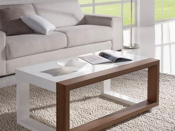 WHITE LABEL - table basse relevable - uptu - l 110 x l 60 x h 44 - Table Basse Rectangulaire
