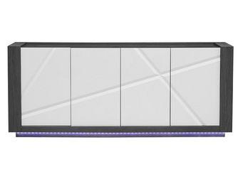 WHITE LABEL - buffet 4 portes - stripe - l 200 x l 50 x h 83 - b - Buffet Bas
