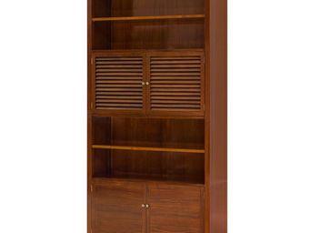 WHITE LABEL - bibliothèque en bois - magellan - l 105 x l 40 x 2 - Bibliothèque