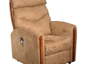 WHITE LABEL - fauteuil releveur marron - trendy - l 75 x l 95 /  - Fauteuil